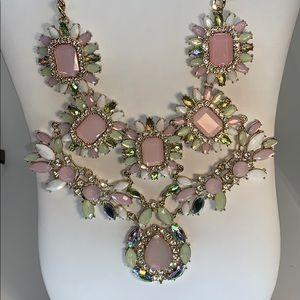 Natasha statement necklace in pink